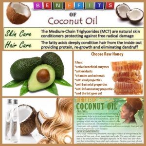 DIY Avocado Raw Honey Coconut Oil Hair Mask